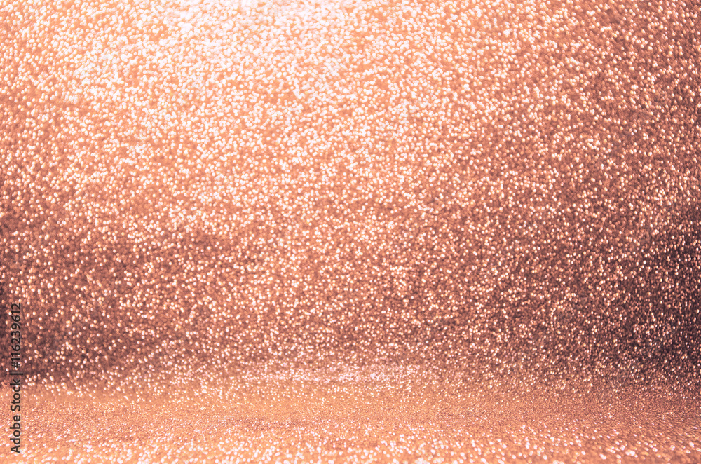 Fototapety, obrazy: Rose gold glitter, Defocused abstract holidays lights on background.