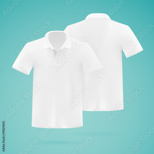 f5862e42 Mens white vector polo shirt template. Realistic mockup. - Buy this ...