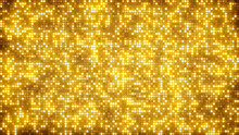 Gold Glitter Dots Abstract Background