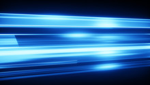 Blue Light Streaks Abstract Mo...