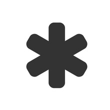 Asterisk Icon. Asterisk Sign. ...