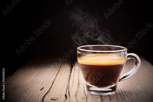 Fotomural Espresso in a glass cup