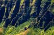 Beautiful landscape detail of Na Pali cliffs, Kauai