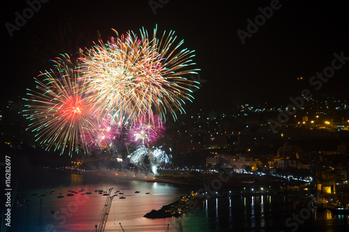 Fotografie, Obraz  Fuochi d'artificio, Festino Santa Rosalia, Palermo