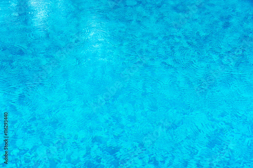 Staande foto Kunstmatig Water Background, Ripple Surface With Rain Drops, Swimming pool