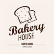 Bakery logotype. Bakery or bred shop vintage design element.