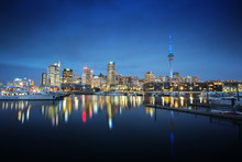 Auckland Cityscape At Night, L...