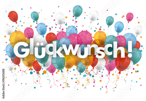 Fotografía  Glückwunsch Luftballons