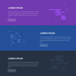 Space vector web banners