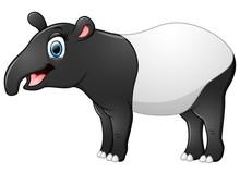 Happy Tapir Cartoon