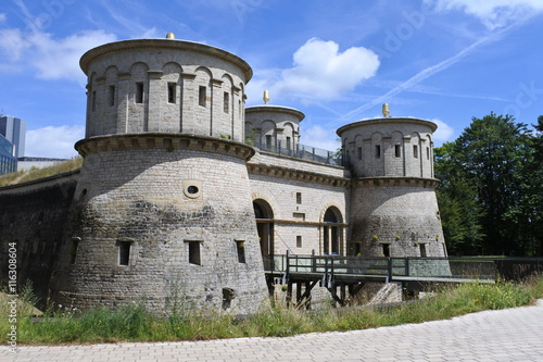 In de dag Vestingwerk Fort Thüngen der Festung Luxembourg
