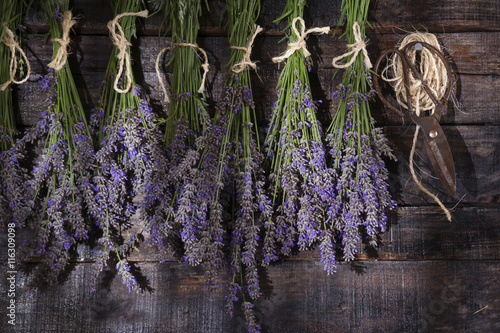 Photo  Bunch of lavender flowers