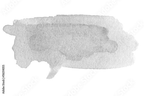 Zdjęcie XXL Ręcznie rysowane akwarela czarna plama z plamą farby kolor wody