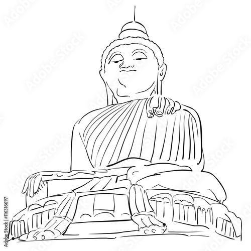 big buddha phuket outline sketch buy this stock vector and explore Phuket Nightlife Tips big buddha phuket outline sketch
