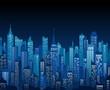 Night cityscape vector background