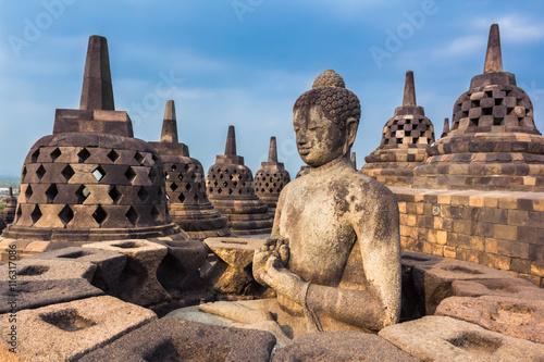 In de dag Indonesië Borobudur Temple, Yogyakarta, Java, Indonesia.