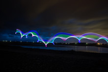 LED Light Painting Abstract Background