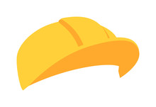 Construction Helmet Construction Safety Industry Hat Protective Worker Hard Hat Vector Illustration. Protective Worker Construction Helmet And Safety Tool