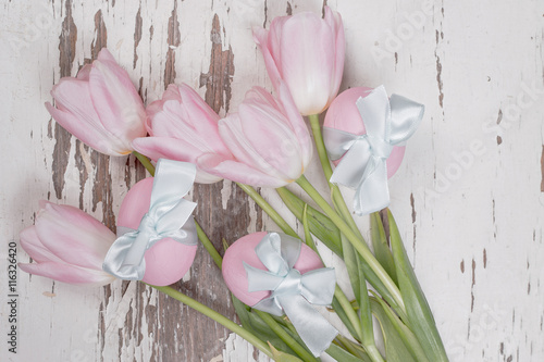 Fotografie, Obraz  Pastel pink tulips