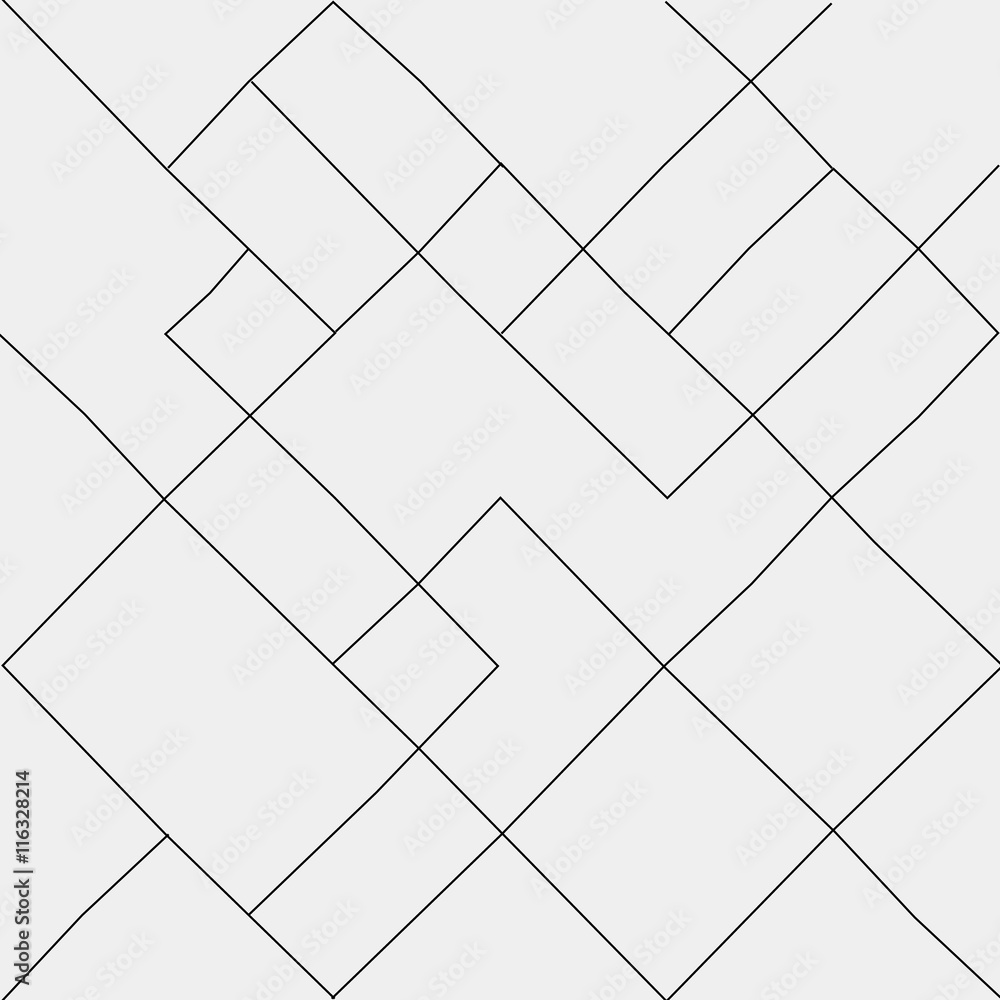 Fototapeta Geometric simple black and white minimalistic pattern, diagonal  thin lines. Can be used as wallpaper, background or texture.