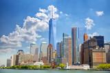 Fototapeta Nowy Jork - Lower Manhattan urban skyscrapers in New York City