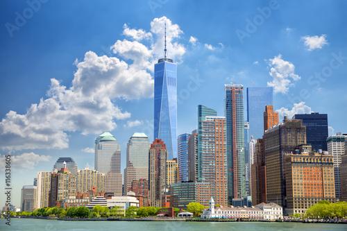 Canvas Print Lower Manhattan urban skyscrapers in New York City