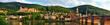 Altstadt von Heidelberg im besten Licht, Panorama mit Alter Brücke und Schloss