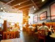 canvas print picture - Customer in restaurant blur background with bokeh