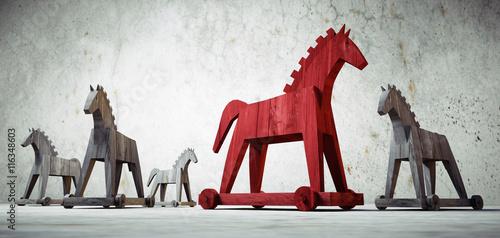 Trojanische Pferde Canvas-taulu