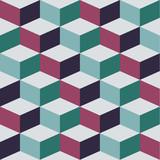 Bezszwowy wzór z sześcianem, wektorowa abstrakcjonistyczna ilustracja - 116348865