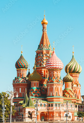 Keuken foto achterwand Moskou The Cathedral of Vasily the Blessed, commonly known as Saint Basil's Cathedral, is a church in Red Square in Moscow, Russia.