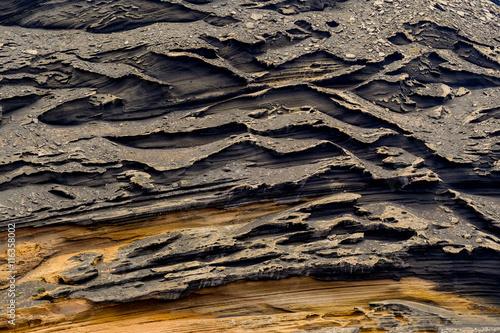Stickers pour porte Cailloux roche texture matière volcanique pierre lave volcan lanzarote