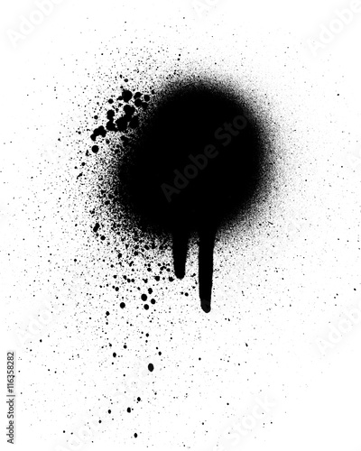 Photo  Black spray paint