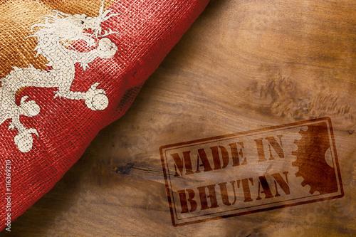 Staande foto Algerije Hot stamping Made in Bhutan