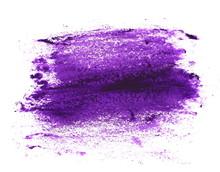 Purple Brush Strokes Oil Paint Isolated On White