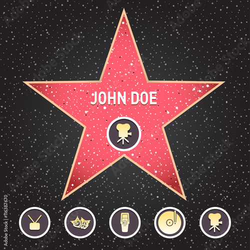 Poster  Hollywood star