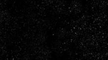Starry Dark Sky With Twinkling Stars