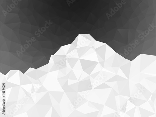 фотография  abstract white geometric mountain