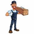 Carpenter Cartoon Mascot Vector
