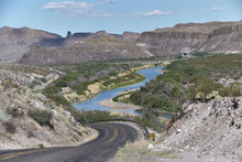 View Over Winding Rio Grande In Big Bend Ranch State Park