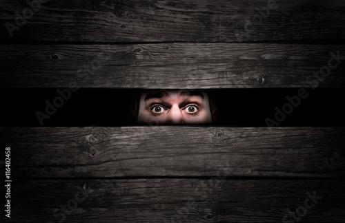Photo  Man in a crate
