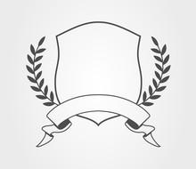Wappen Schild Design