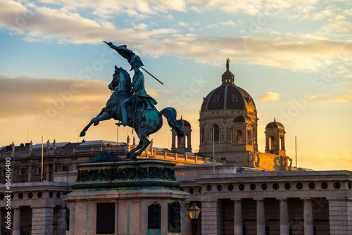 Canvas Prints Vienna Statue of Archduke Charles in Vienna