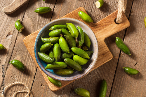 Fototapeta  Raw Organic Green Finger Limes
