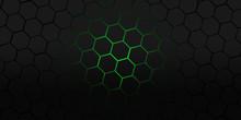 Black And Green Hexagons Moder...