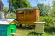 Small farm animal shelter on stilts