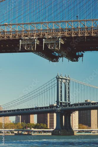 Tuinposter Art Studio Manhattan Bridge and skyline in New York