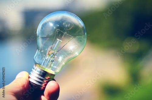 Lamp in hand © Giddrid