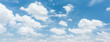 Panorama blue sky with clouds