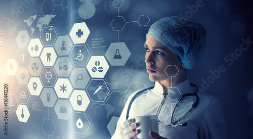 Innovative technologies in medicine  . Mixed media Fototapeta